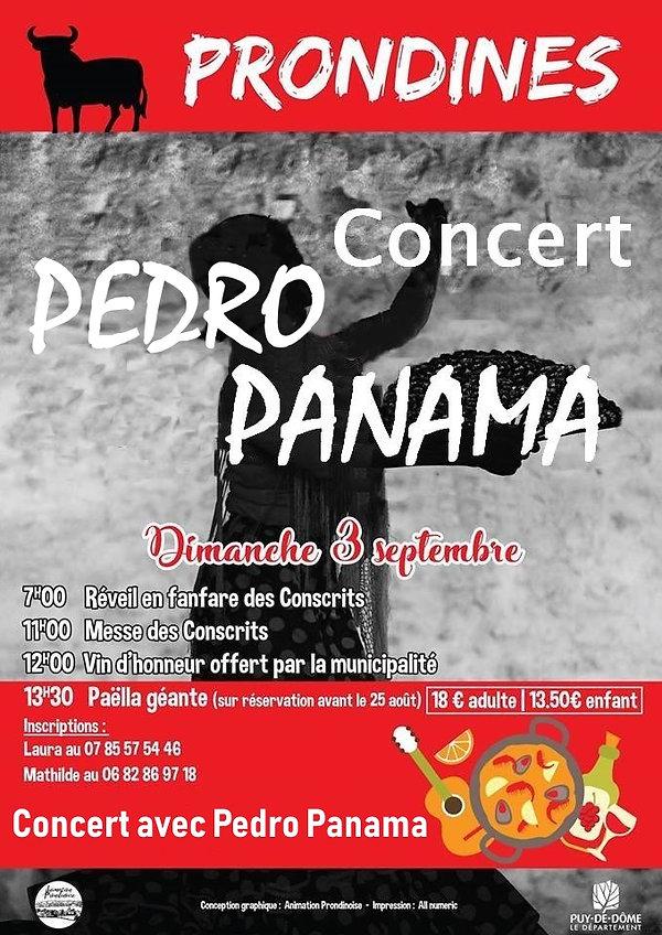 Concert PEDRO Prondines 03 Septembre 201