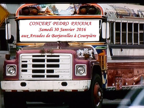Concert Pedro Panama Arcades de Barjavel