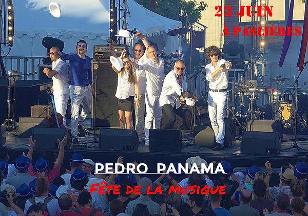 Affiche pedro panama Concert 23 Juin 201