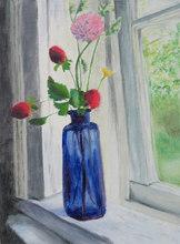 Blue Vase on a Windowsill