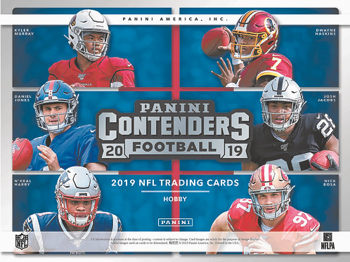 2019 Contenders NFL Hobby Box (6 Autos)