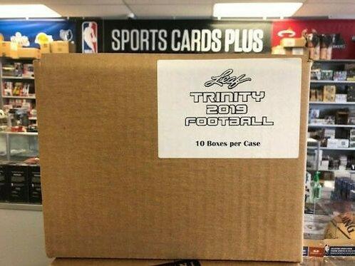 2019 Leaf TRINITY FOOTBALL Hobby 10 BOX CASE
