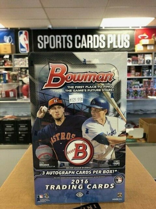2016 Bowman MLB 3 Autos Jumbo Box