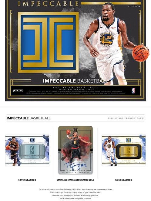 2018-19 IMPECCABLE NBA 3 Box CASE