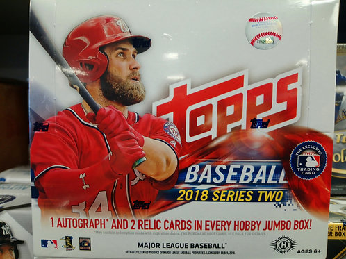 2018 Topps Series 2 Jumbo HTA 6 Box CASE