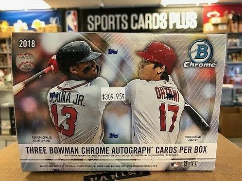 2018 Bowman Chrome MLB HTA 3 Autographs per Box