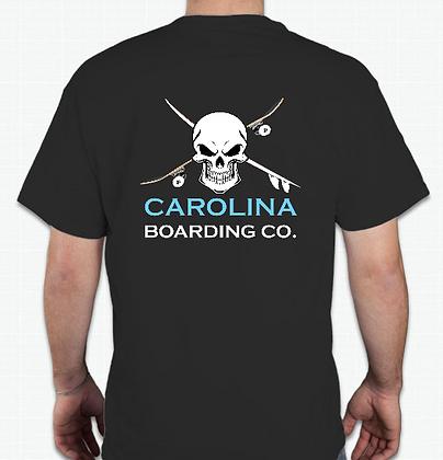 Carolina Boarding Co Skull Shirt (Adult) in Black