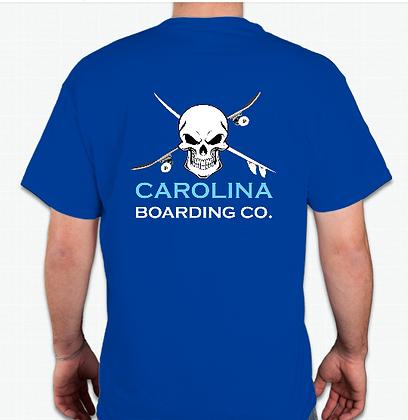 Carolina Boarding Co Skull Shirt (Adult) in Blue