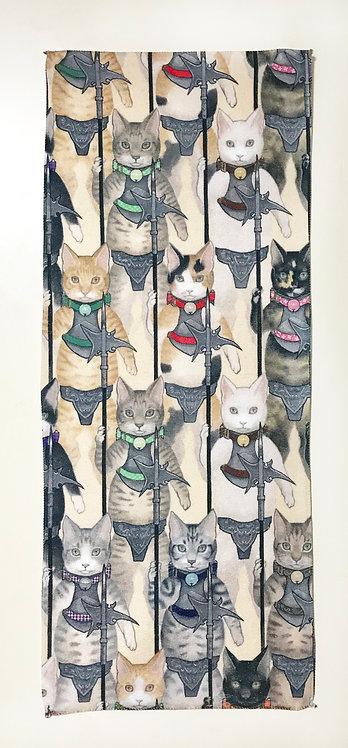 フェイスタオル「行軍・猫」