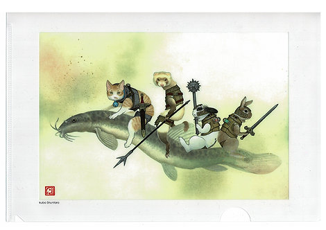 クリアファイル「鰌騎兵」