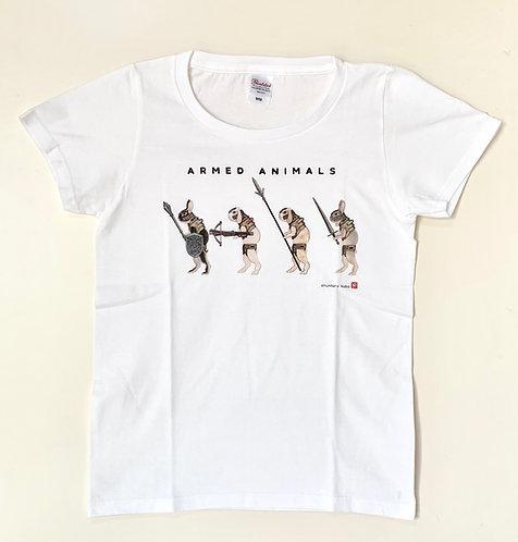 Tシャツ「武装せるうさぎ/歩兵」