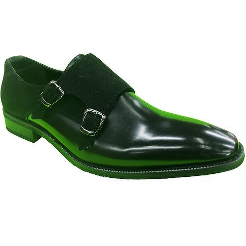 Shoe Artists Black Shine Patent Leather Republic Collection Men's Dress