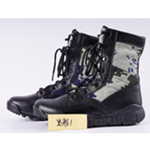 Camo Men's 8 inch Black Leather Lace Up, Combat Boot