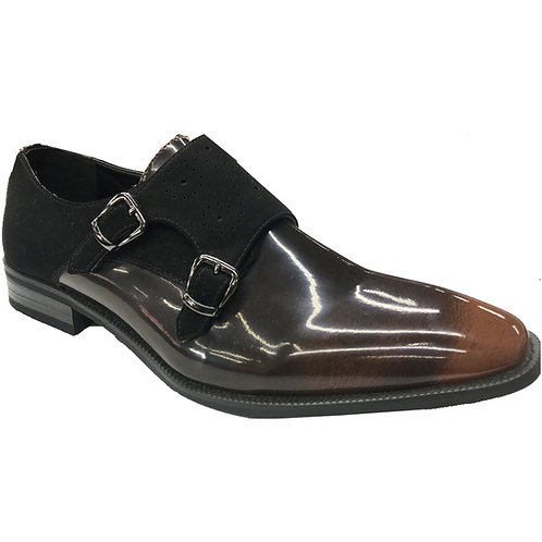 Shoe Artists Brown Shine Patent Leather Republic Collection Men's Dress