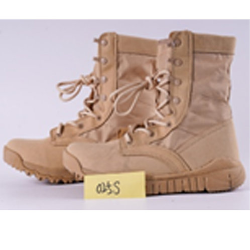 Men's 8 inch Beige Suede Leather Lace Up, Combat Boot