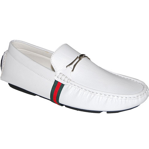Men's Casual Slip-On Shoe in White