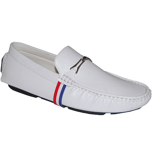White Men's Casual Slip-On Shoe