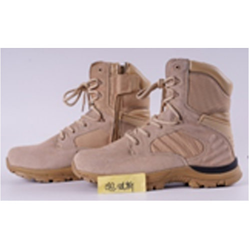 Arena Men's 8 inch Beige, Black Accent Leather Lace Up Combat | Tactical Boot