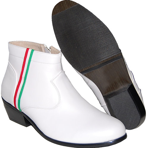STYLISH CUBAN HEEL WITH RED, WHITE AND GREEN RIBBON