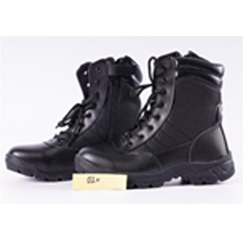 Men's 8 inch Black Leather Lace Up, Tactical Combat Boot