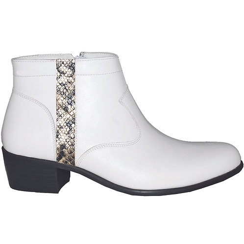 Stylish Cuban Heel with Snake Skin Detail