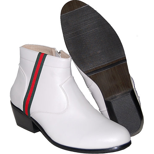 STYLISH CUBAN HEEL WITH RED AND GREEN RIBBON