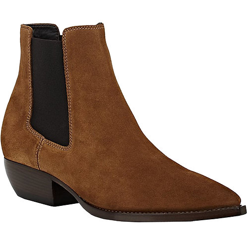Suede Men's Brown Cuban Heels