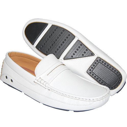 Men Of The Hour Casual Slip-On In White
