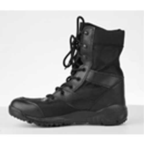 Men's 8 inch Black Lace Up Leather & Nylon Upper Combat Boot