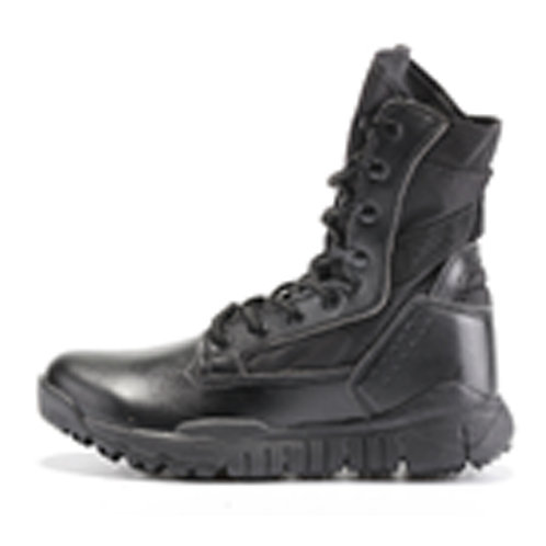 Heavy-Duty Men's 8 inch Leather Lace Up Black Combat, Tactical Boot