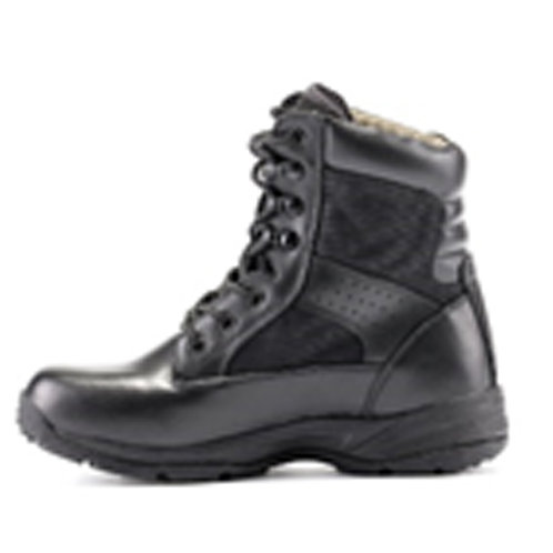 Men's 7 inch Single Collar Lace Up Black Leather Tactical Boot