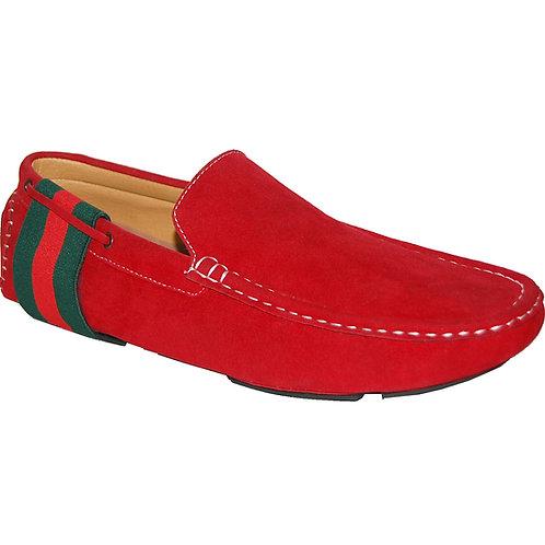 Red Flower Men's Slip-On