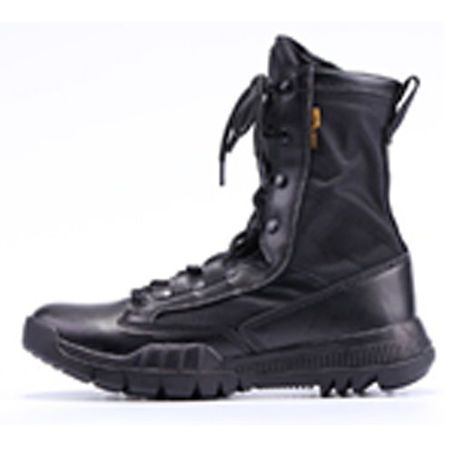 Men's 8 inch Black Lace Up Leather & Nylon Upper Military, Combat Boot