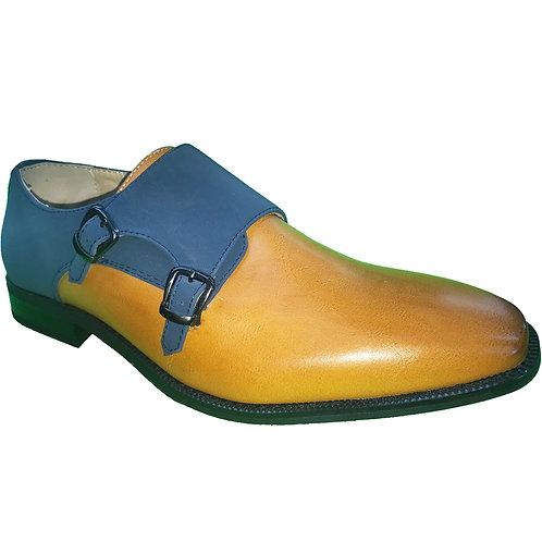 Shoe Artists Monk Strap Brown Republic Collection Men's Dress