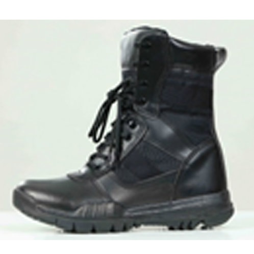 Durable Men's Leather 8 inch Lace Up Black Combat, Jungle Boot