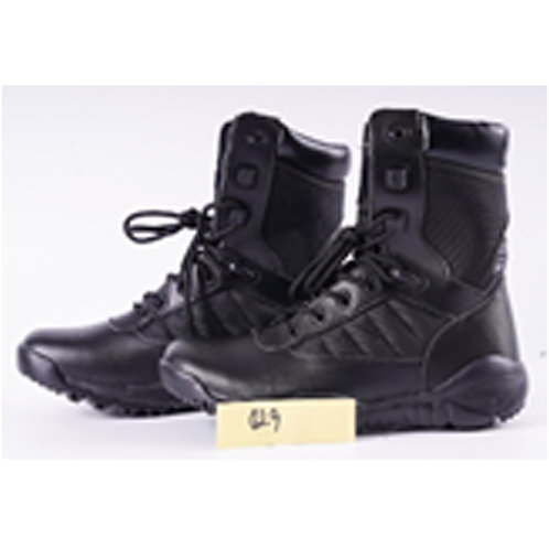 Falcon Men's 8 inch Black Leather Lace Up, Padded Collar Combat, Tactical Boot