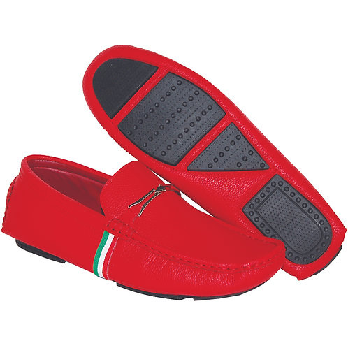 Men's Red Casual Slip-On Shoe