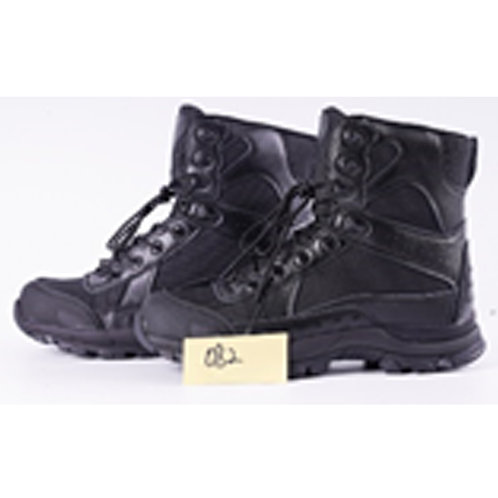 Mykel Men's 7 inch Black Leather Lace Up Combat, Tactical Boot