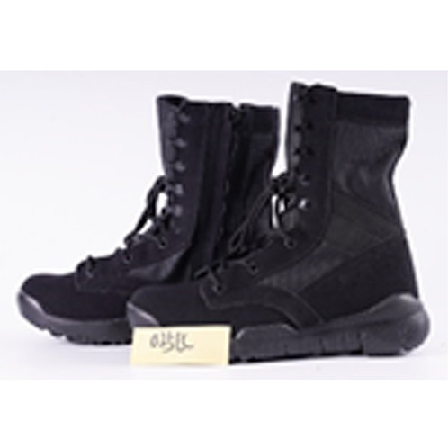 Men's 8 inch Black Suede Leather Lace Up, Combat Boot