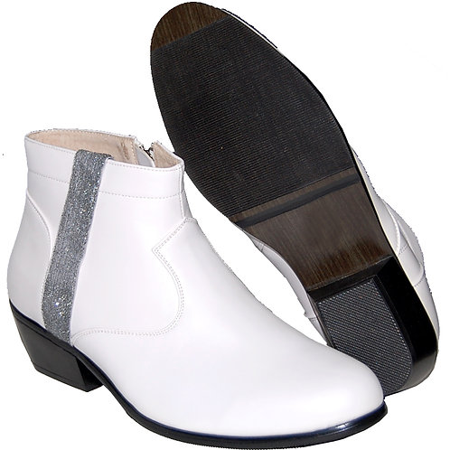 MEN'S FASHION CUBAN HEEL WITH SILVER RIBBON