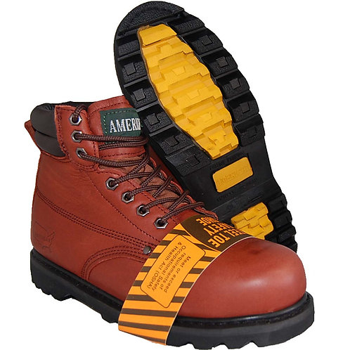Fire Red Men's Workboot Shoes
