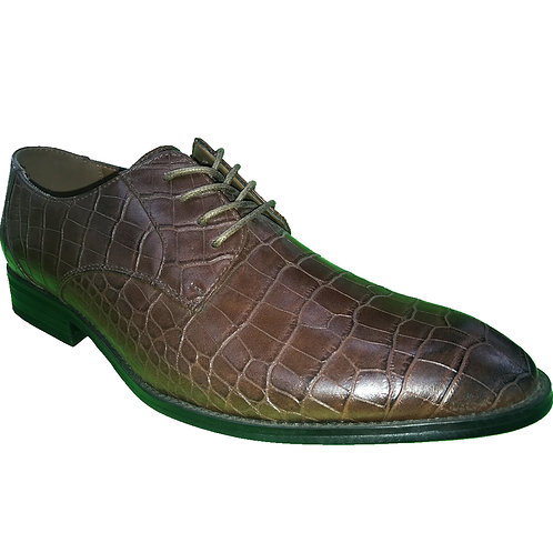 Shoe Artists Coffee Embossed Crocodile Republic Collection Men's Footwear