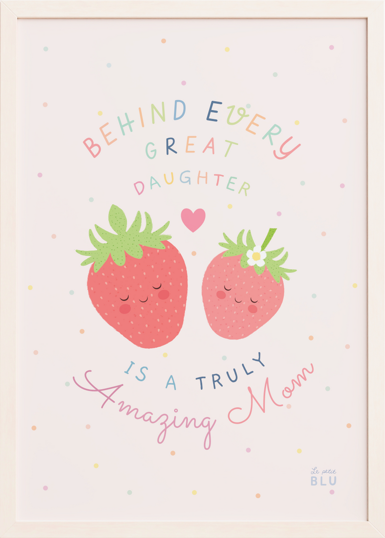 Strawberry, nursery art, le petit blu