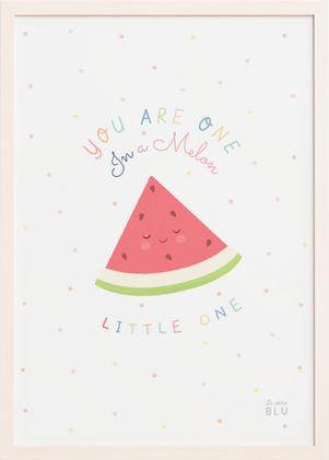 cute watermelon, Le petit Blu nursery print