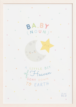 Baby moon star le petit blu nursery