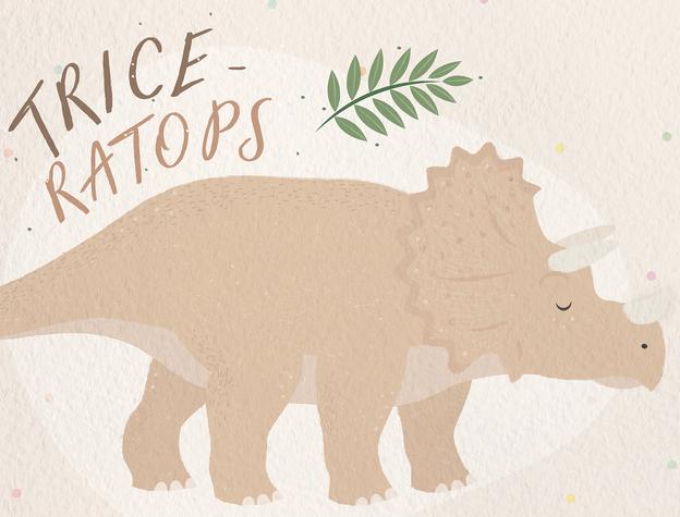Triceratops by Sabrin Deirani