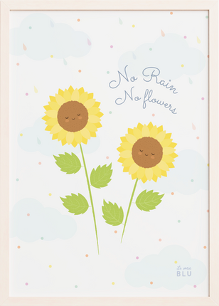 Sunflower nursery wall art