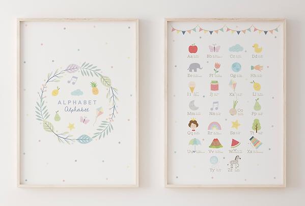 Alphabet poster by Sabrin Deirani