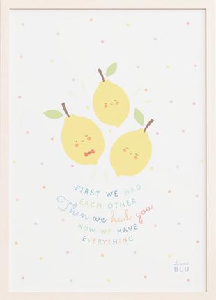 Lemons, family, le petit blu, nursery art