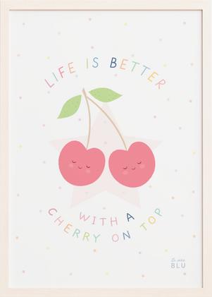Cherry, le petit blu nursery wall art